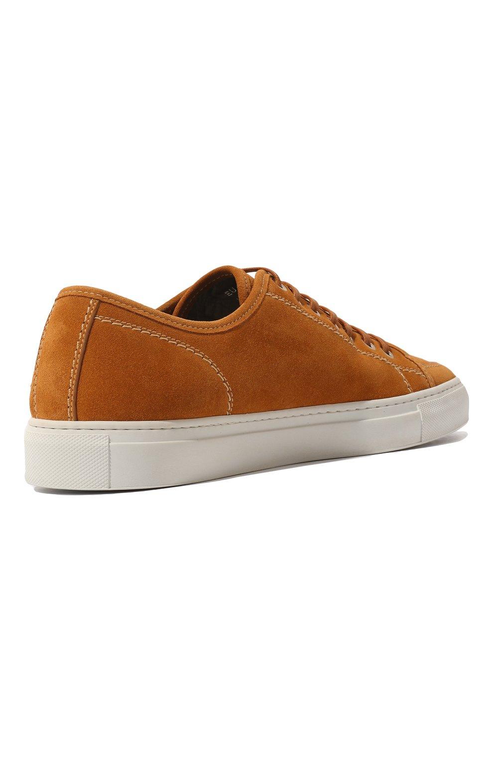 Мужские замшевые кеды BRIONI оранжевого цвета, арт. QHH40L/P3711   Фото 5