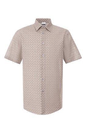 Мужская рубашка из смеси хлопка и льна BRIONI бежевого цвета, арт. SCDH0L/P9052 | Фото 1