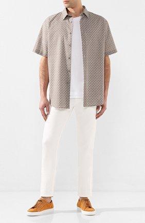 Мужская рубашка из смеси хлопка и льна BRIONI бежевого цвета, арт. SCDH0L/P9052 | Фото 2