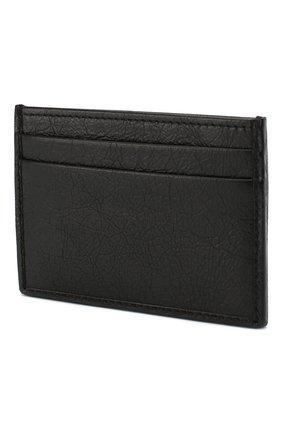 Мужской кожаный футляр для кредитных карт GUCCI черного цвета, арт. 581528/1GZ0X | Фото 2