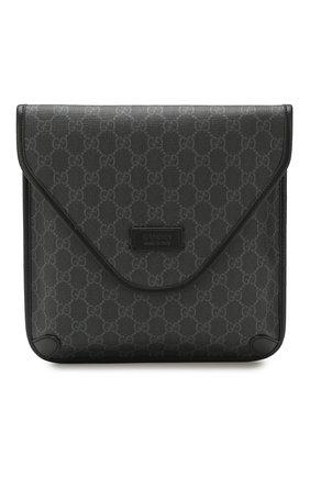 Мужская сумка gg supreme GUCCI темно-серого цвета, арт. 599521/K5RLN   Фото 1