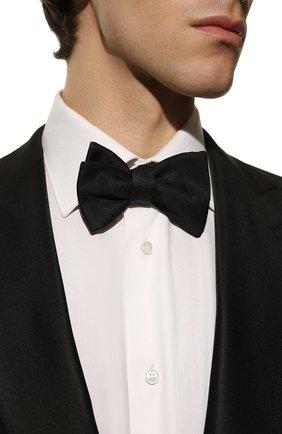 Мужской шелковый галстук-бабочка GIORGIO ARMANI черного цвета, арт. 360030/8P999 | Фото 2