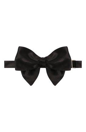 Мужской шелковый галстук-бабочка GIORGIO ARMANI черного цвета, арт. 360030/8P998 | Фото 1