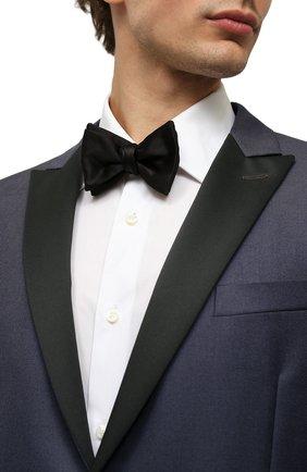 Мужской шелковый галстук-бабочка GIORGIO ARMANI черного цвета, арт. 360030/8P998 | Фото 2