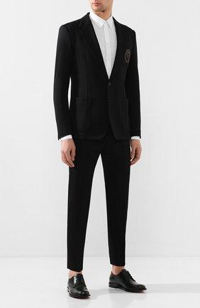 Мужской хлопковый пиджак DOLCE & GABBANA черного цвета, арт. G2NW6Z/FUGJM   Фото 2