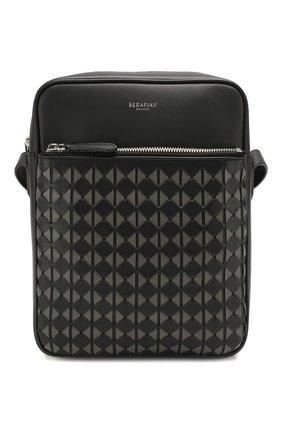 Мужская кожаная сумка mosaico SERAPIAN черного цвета, арт. SM0SAMML6799M19C | Фото 1