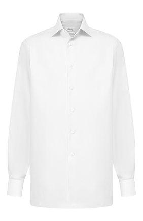 Мужская хлопковая сорочка BRIONI белого цвета, арт. RCL41F/P7001 | Фото 1