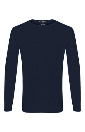 Мужские лонгслив DEREK ROSE синего цвета, арт. 3083-BASE001 | Фото 1