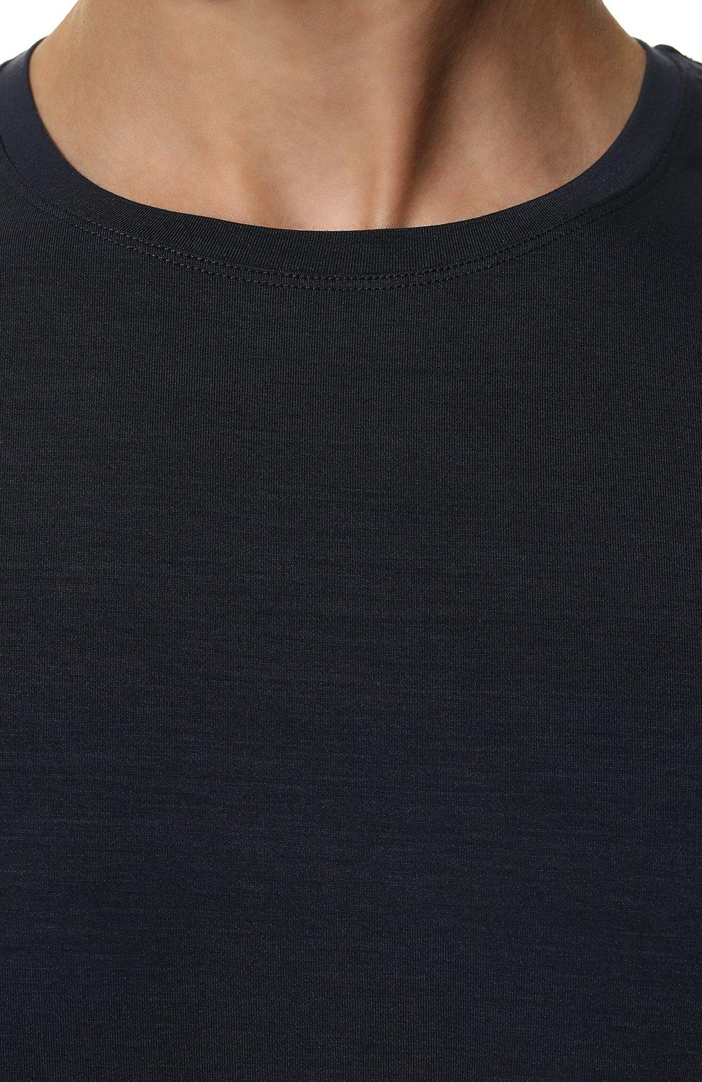 Мужская лонгслив DEREK ROSE синего цвета, арт. 3083-BASE001   Фото 5 (Рукава: Длинные; Кросс-КТ: домашняя одежда; Материал внешний: Синтетический материал; Длина (для топов): Стандартные; Мужское Кросс-КТ: Футболка-белье)