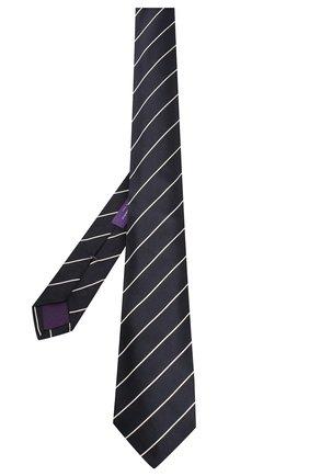 Мужской шелковый галстук RALPH LAUREN темно-синего цвета, арт. 791572348 | Фото 2