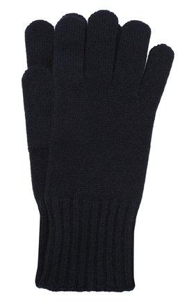 Мужские кашемировые перчатки CRUCIANI темно-синего цвета, арт. MG5 | Фото 1