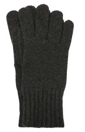 Мужские кашемировые перчатки CRUCIANI темно-серого цвета, арт. MG5 | Фото 1