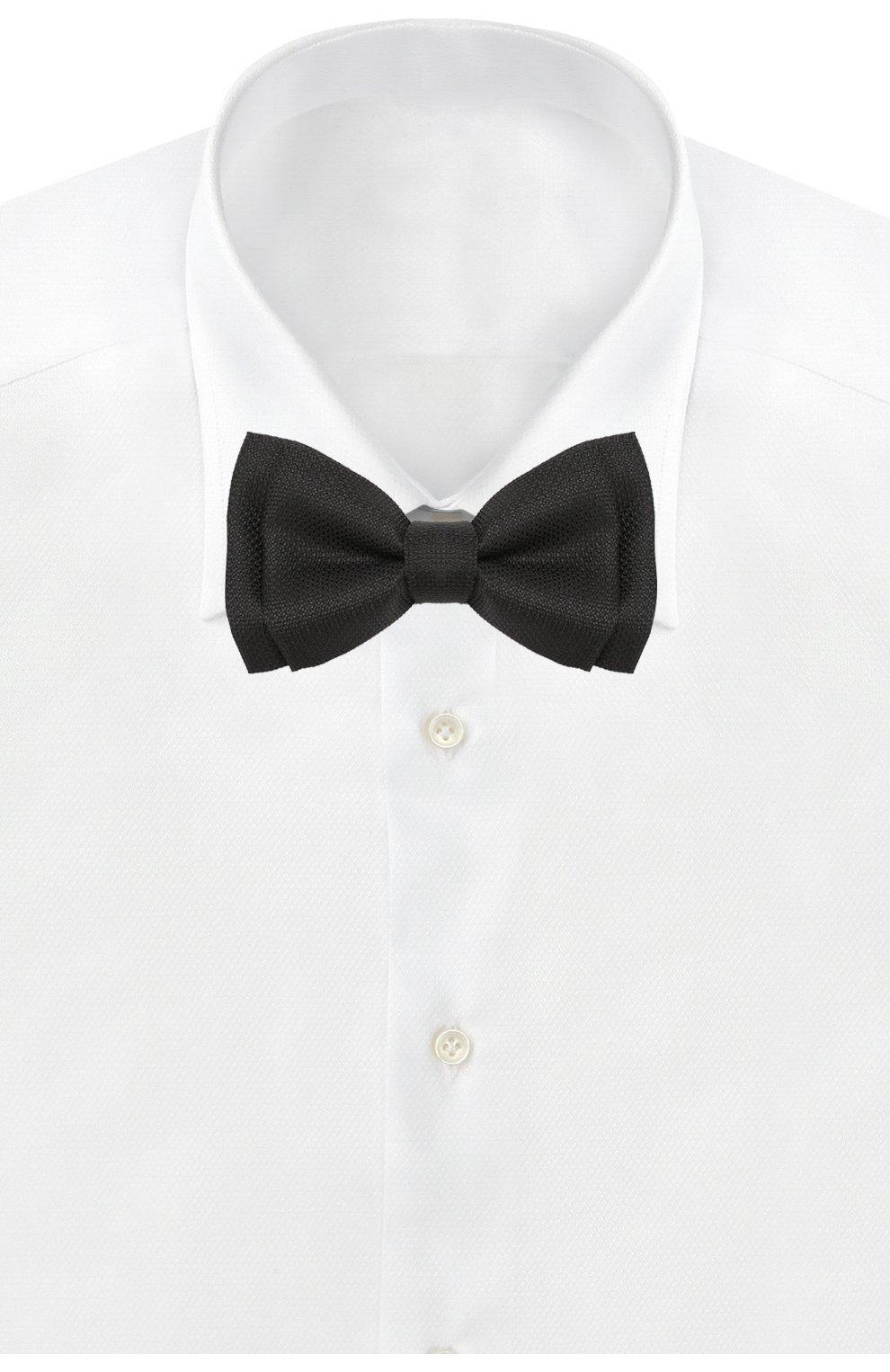Мужской шелковый галстук-бабочка BOSS черного цвета, арт. 50423704   Фото 2