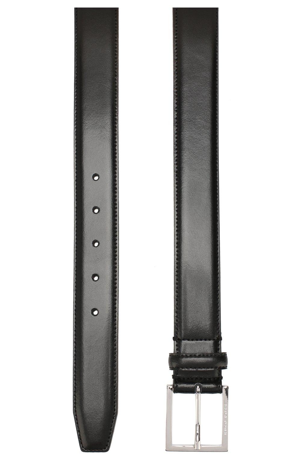 Мужской кожаный ремень BOSS черного цвета, арт. 50424605 | Фото 2