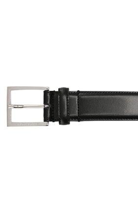 Мужской кожаный ремень BOSS черного цвета, арт. 50424605 | Фото 3