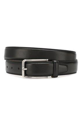 Мужской кожаный ремень BOSS черного цвета, арт. 50424600 | Фото 1