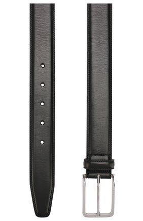 Мужской кожаный ремень BOSS черного цвета, арт. 50424600 | Фото 2