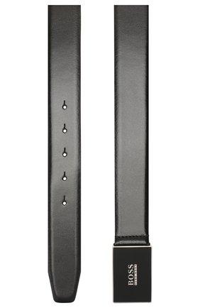Мужской кожаный ремень BOSS черного цвета, арт. 50402761 | Фото 2