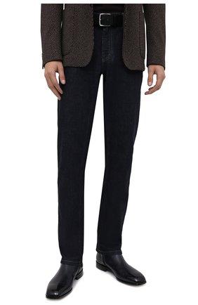 Мужской кожаный ремень BOSS черного цвета, арт. 50424683 | Фото 2