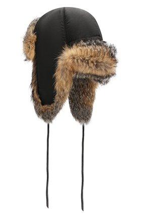 Шапка-ушанка из меха лисы | Фото №2