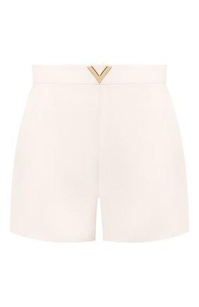 Женские шорты из смеси шерсти и шелка VALENTINO кремвого цвета, арт. TB3RF1901CF | Фото 1