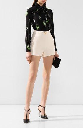 Женские шорты из смеси шерсти и шелка VALENTINO кремвого цвета, арт. TB3RF1901CF | Фото 2
