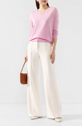 Женская шерстяной пуловер DOROTHEE SCHUMACHER светло-розового цвета, арт. 610113/C0L0RFUL ESSENTIAL | Фото 2