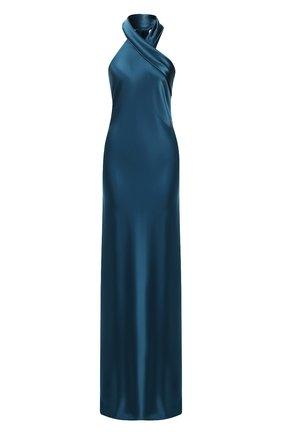 Женское платье-макси GALVAN LONDON бирюзового цвета, арт. 1014B SATIN PAND0RA | Фото 1
