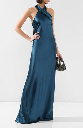Женское платье-макси GALVAN LONDON бирюзового цвета, арт. 1014B SATIN PAND0RA | Фото 2