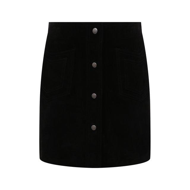 Замшевая юбка Saint Laurent