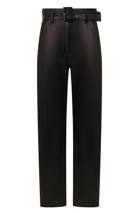 Женские кожаные брюки DROME черного цвета, арт. DPD1947P/D400P   Фото 1