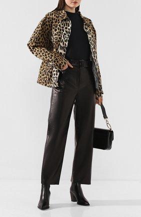 Женские кожаные брюки DROME черного цвета, арт. DPD1947P/D400P   Фото 2