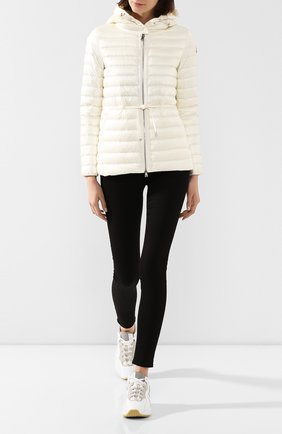 Женский пуховая куртка raie MONCLER белого цвета, арт. F1-093-1B103-00-53048 | Фото 2
