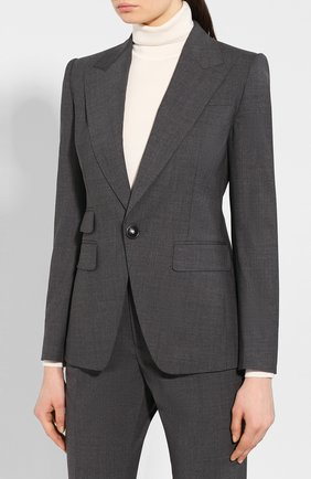 Женский шерстяной костюм DSQUARED2 серого цвета, арт. S75FT0199/S40320 | Фото 2