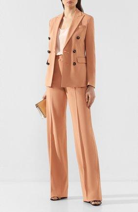 Женский костюм из смеси вискозы и хлопка DSQUARED2 оранжевого цвета, арт. S75FT0198/S52503 | Фото 1