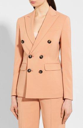 Женский костюм из смеси вискозы и хлопка DSQUARED2 оранжевого цвета, арт. S75FT0198/S52503 | Фото 2