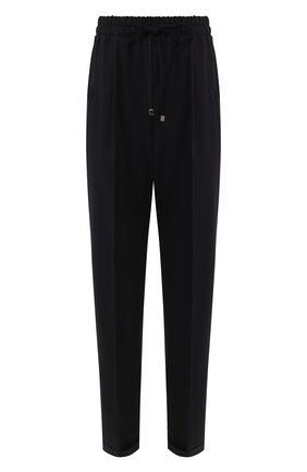Женские шерстяные брюки KITON темно-синего цвета, арт. D37102K05I22 | Фото 1
