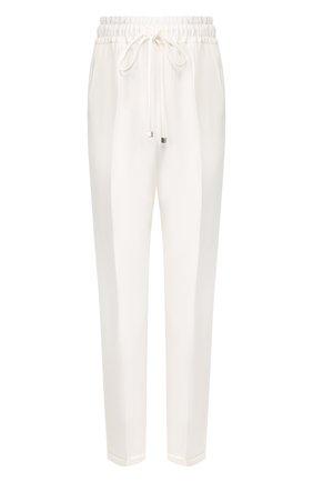 Женские шелковые брюки KITON белого цвета, арт. D37102K09S67 | Фото 1