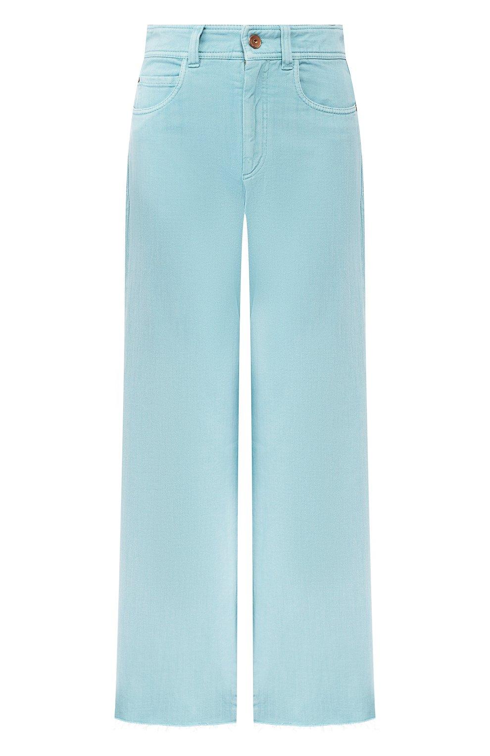 Женские джинсы BRUNELLO CUCINELLI бирюзового цвета, арт. M293PP5529 | Фото 1