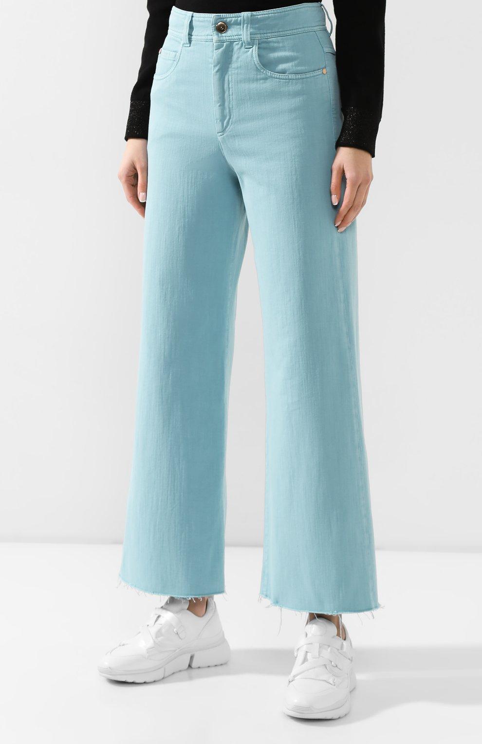 Женские джинсы BRUNELLO CUCINELLI бирюзового цвета, арт. M293PP5529 | Фото 3