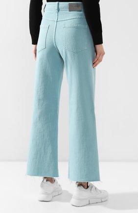 Женские джинсы BRUNELLO CUCINELLI бирюзового цвета, арт. M293PP5529 | Фото 4