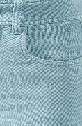 Женские джинсы BRUNELLO CUCINELLI бирюзового цвета, арт. M293PP5529 | Фото 5