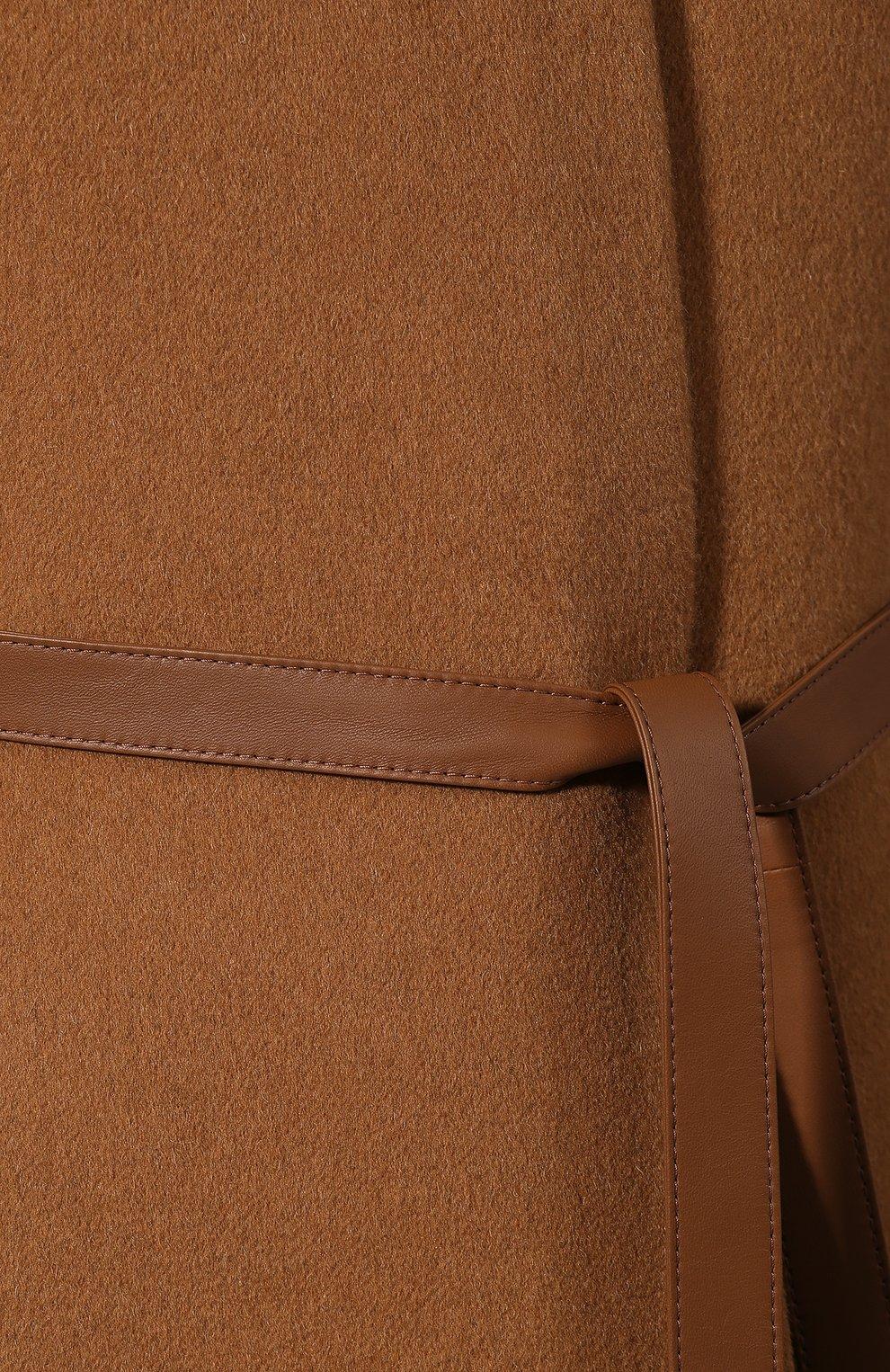 Женская пончо из смеси кашемира и шерсти LORO PIANA светло-коричневого цвета, арт. FAG3847/VVIC   Фото 5