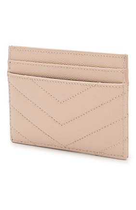 Женский кожаный футляр для кредитных карт SAINT LAURENT бежевого цвета, арт. 423291/B0W02 | Фото 2