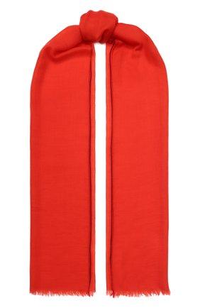 Женский кашемировый шарф fil and fil LORO PIANA красного цвета, арт. FAG1933 | Фото 1 (Материал: Шерсть, Кашемир)