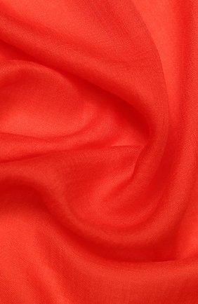 Женский кашемировый шарф fil and fil LORO PIANA красного цвета, арт. FAG1933 | Фото 2 (Материал: Шерсть, Кашемир)