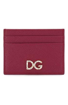 Женский футляр для кредитных карт DOLCE & GABBANA розового цвета, арт. BI0330/AU771 | Фото 1