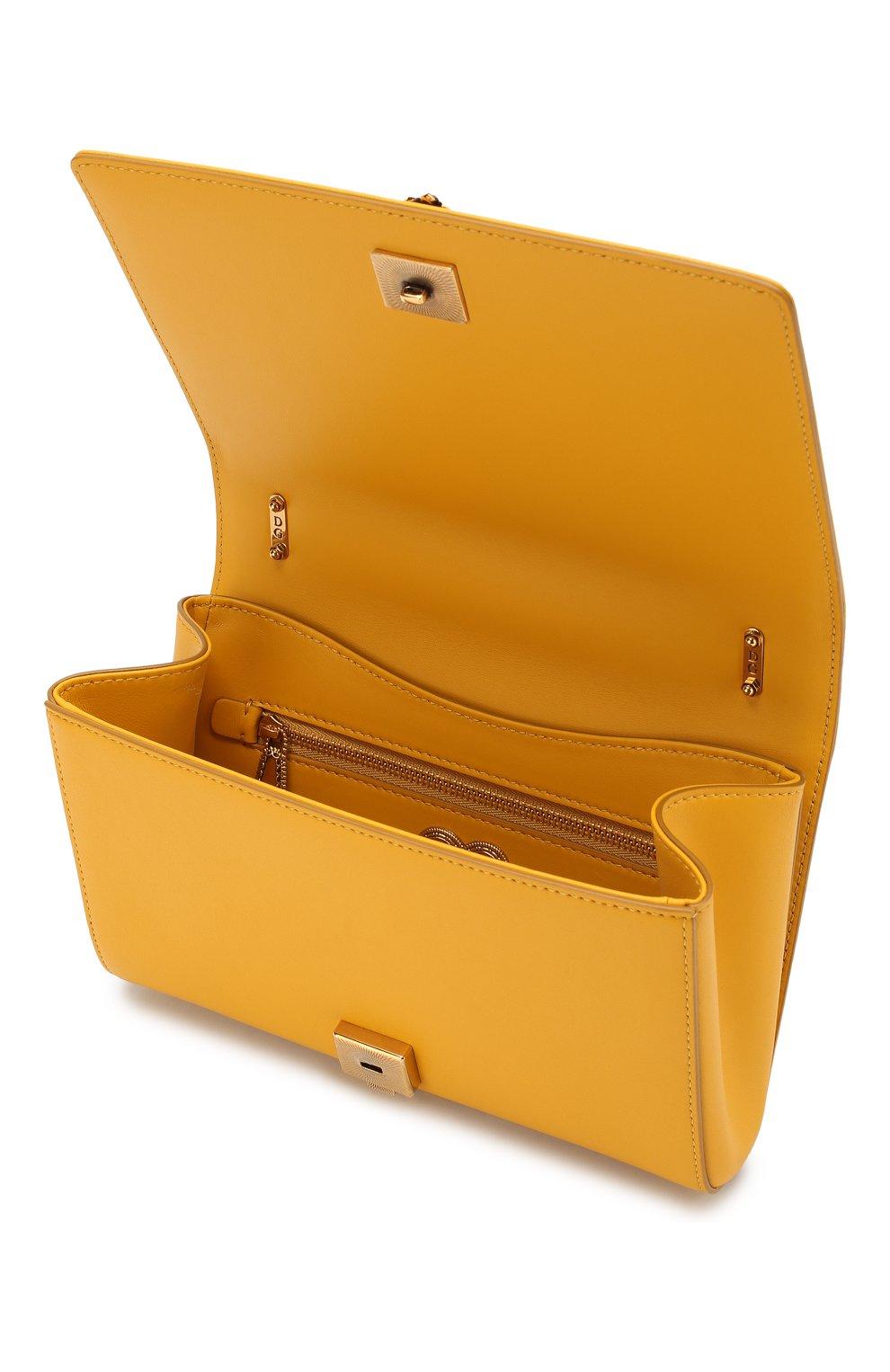 Женская сумка devotion small DOLCE & GABBANA желтого цвета, арт. BB6652/AV967   Фото 4