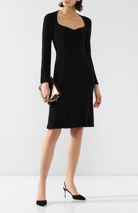Женская замшевые туфли godiva SERGIO ROSSI черного цвета, арт. A73273-MCAZ01 | Фото 2