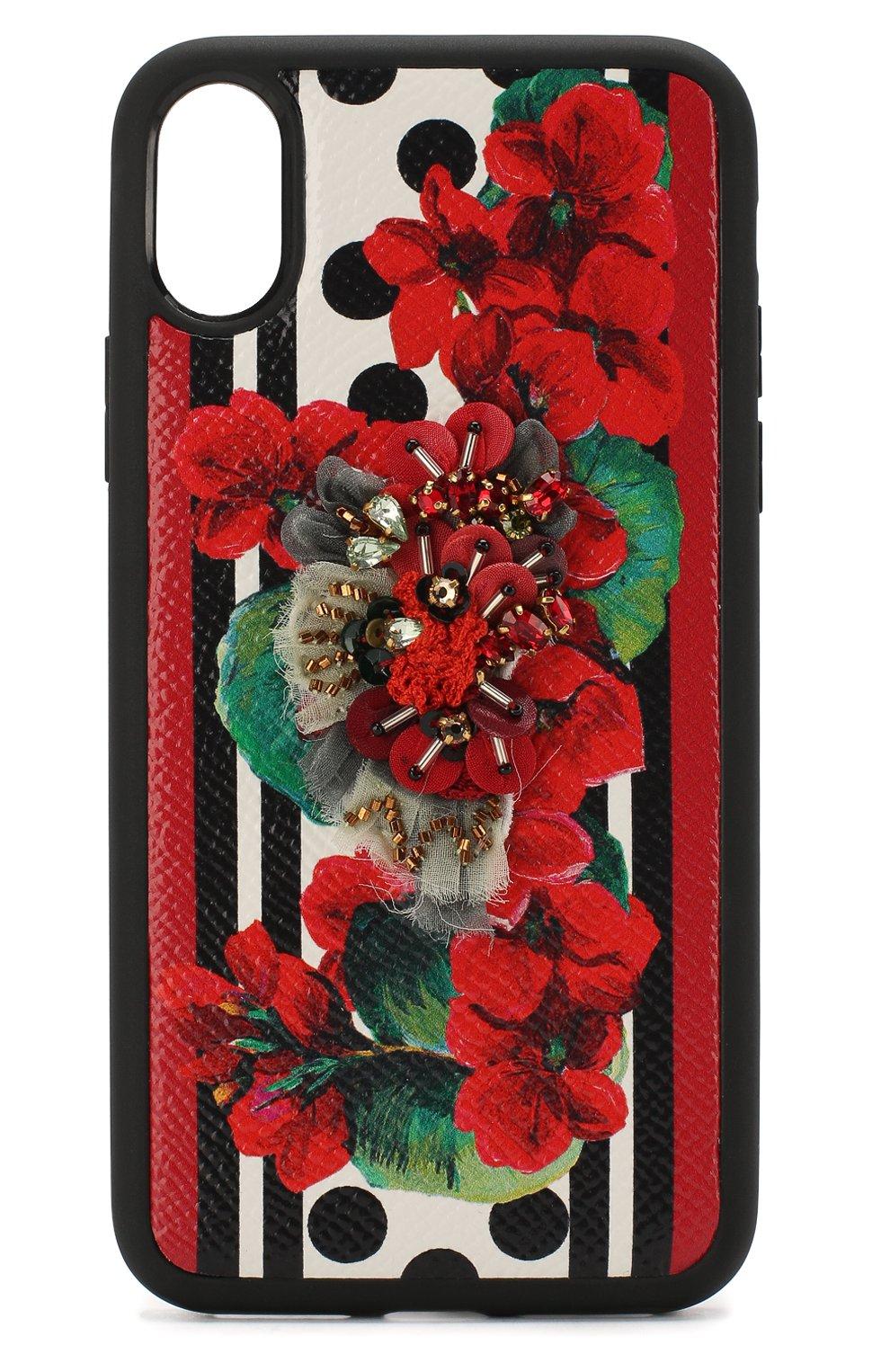 Мужской чехол для iphone x/xs DOLCE & GABBANA красного цвета, арт. BI2408/AZ529 | Фото 1
